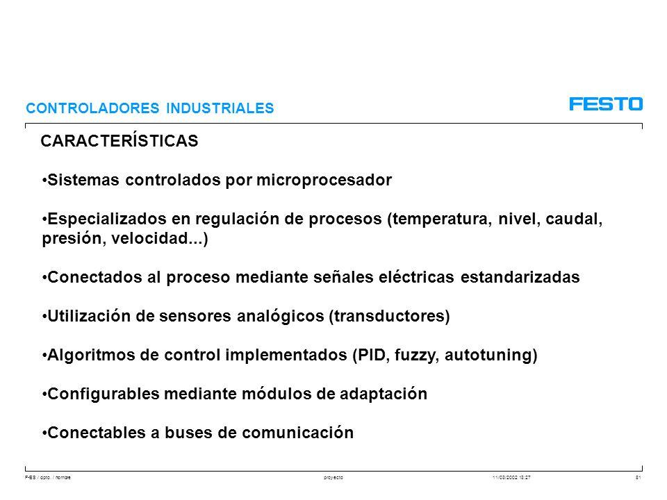 Sistemas controlados por microprocesador
