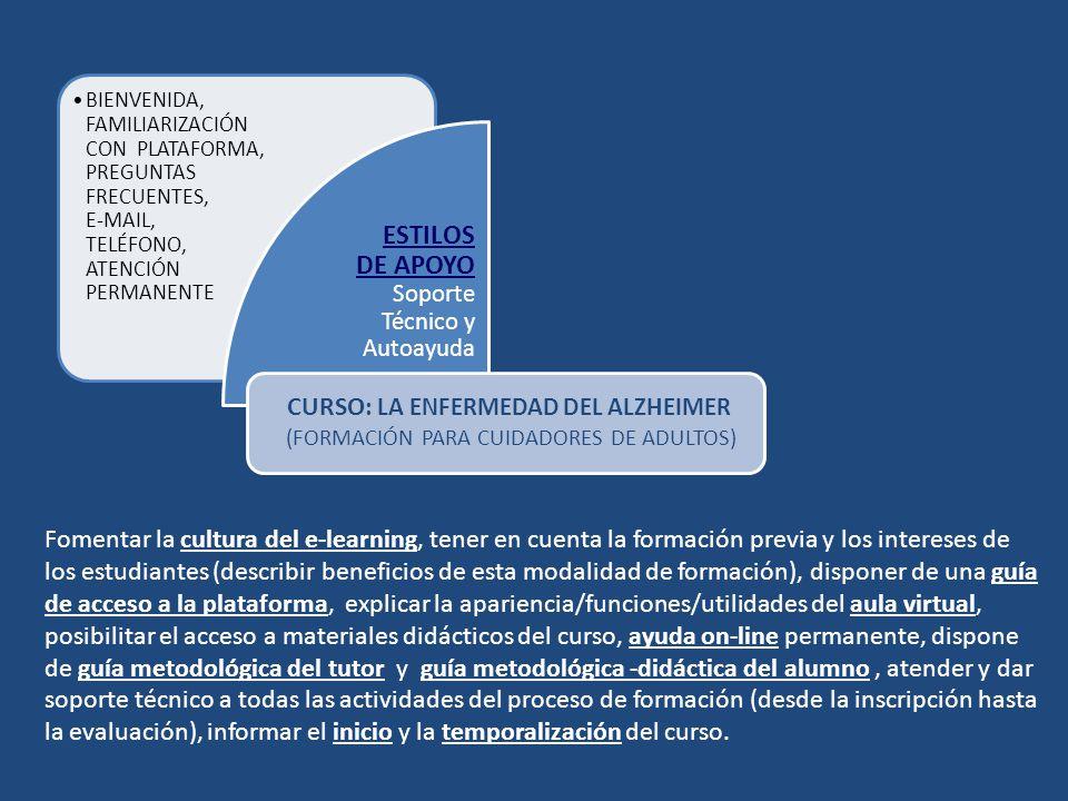 ESTILOS DE APOYO Soporte Técnico y Autoayuda