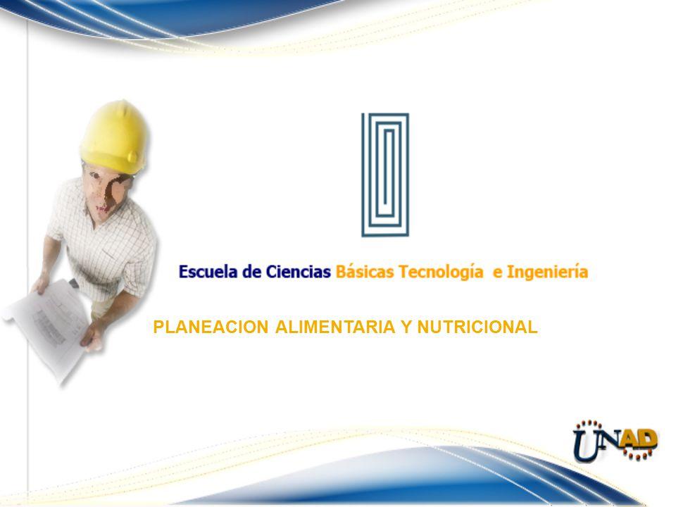 PLANEACION ALIMENTARIA Y NUTRICIONAL