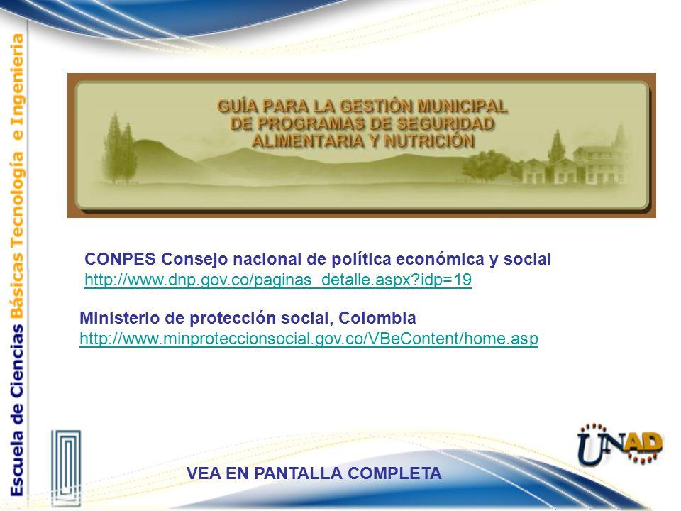 Elementos CONPES Consejo nacional de política económica y social