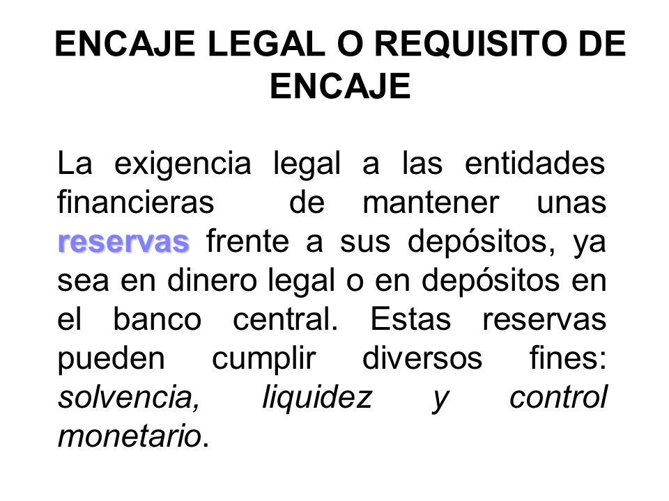 ENCAJE LEGAL O REQUISITO DE ENCAJE