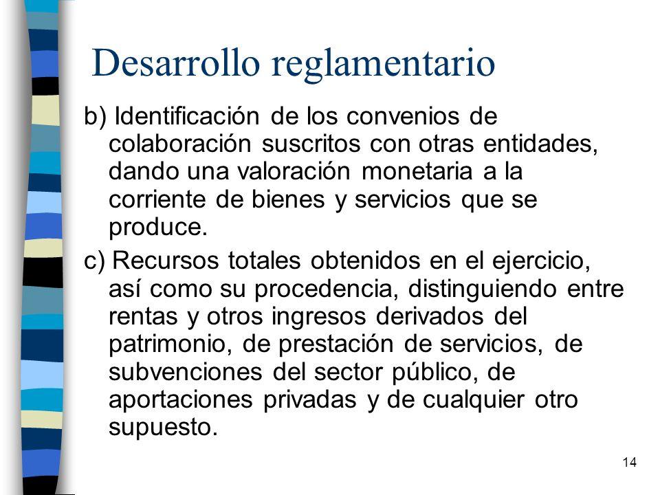 Desarrollo reglamentario