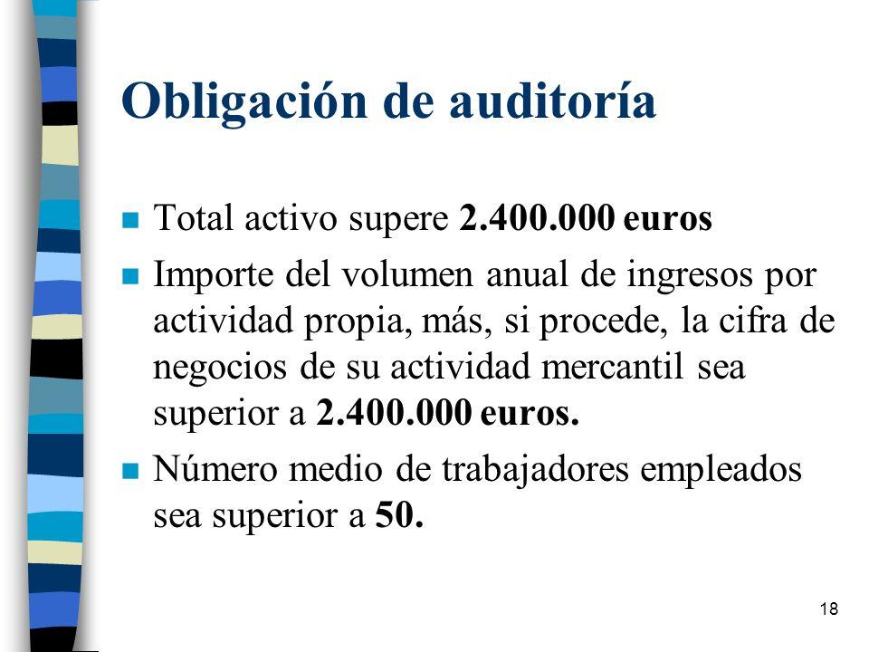 Obligación de auditoría