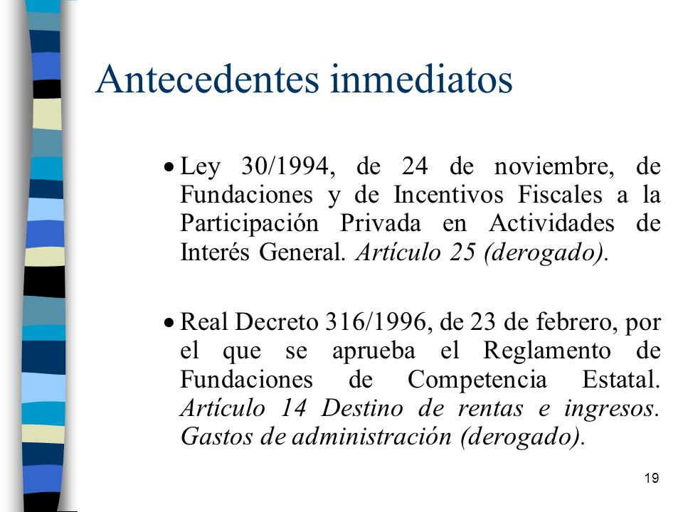 Antecedentes inmediatos