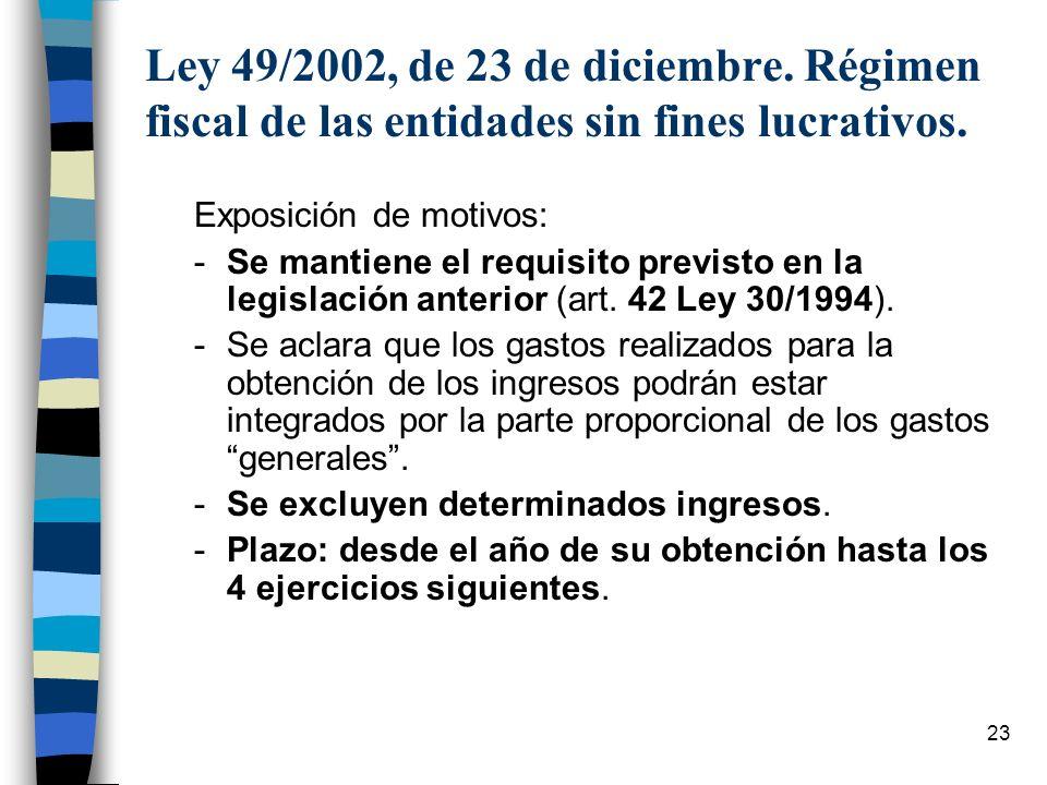 Ley 49/2002, de 23 de diciembre. Régimen fiscal de las entidades sin fines lucrativos.