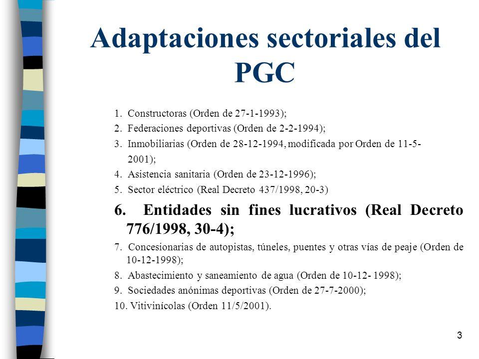 Adaptaciones sectoriales del PGC