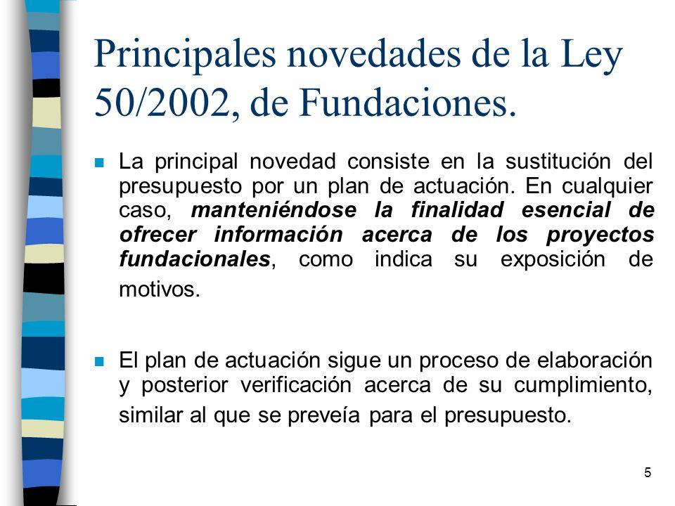 Principales novedades de la Ley 50/2002, de Fundaciones.