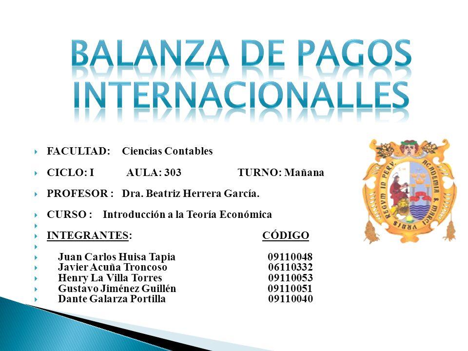 Balanza de pagos internacionalles