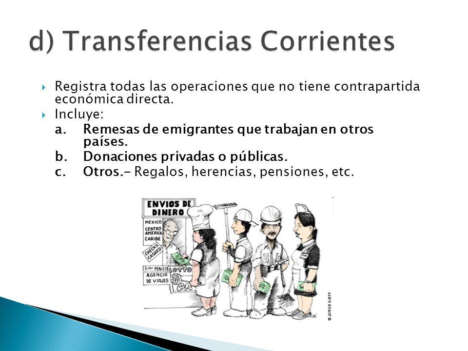 d) Transferencias Corrientes
