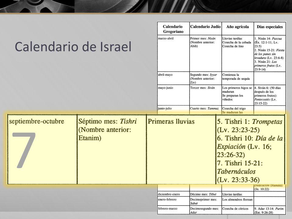 Calendario de Israel 7 7