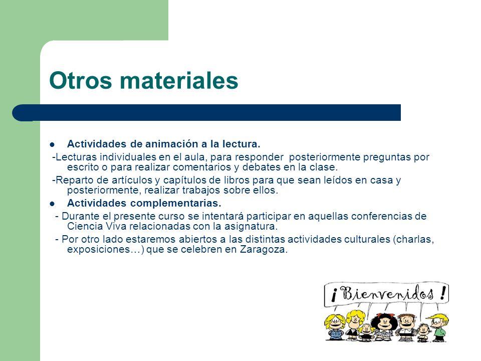Otros materiales Actividades de animación a la lectura.