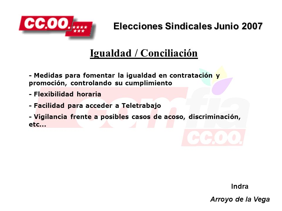 Igualdad / Conciliación