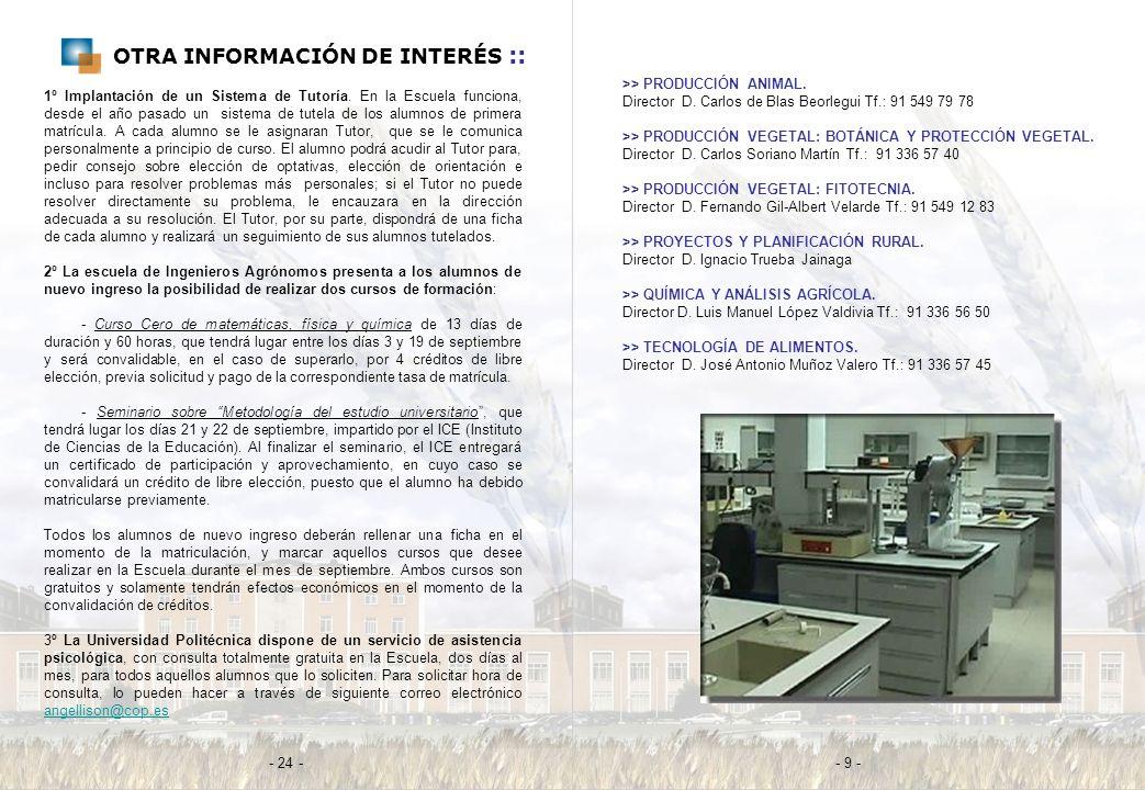 OTRA INFORMACIÓN DE INTERÉS ::