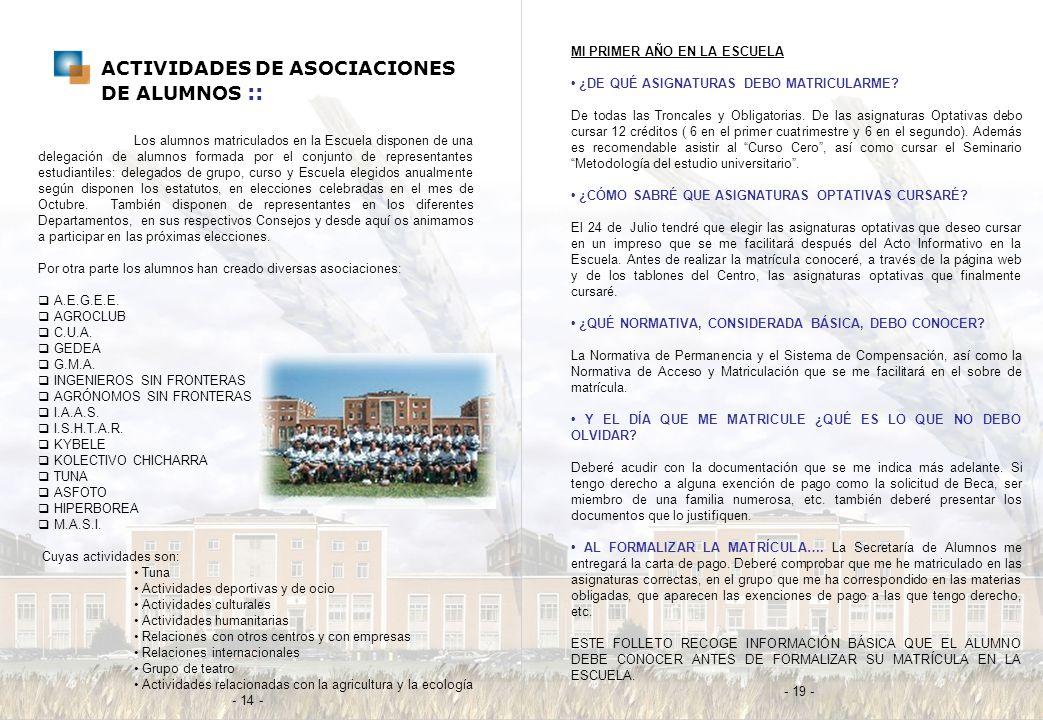 ACTIVIDADES DE ASOCIACIONES DE ALUMNOS ::
