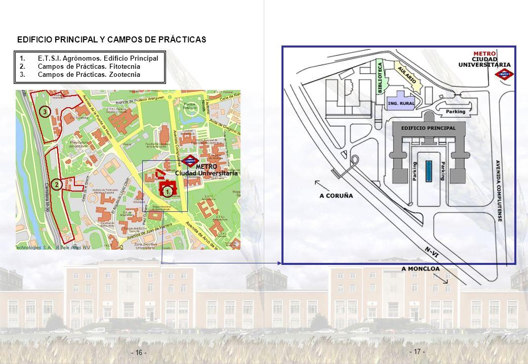 EDIFICIO PRINCIPAL Y CAMPOS DE PRÁCTICAS