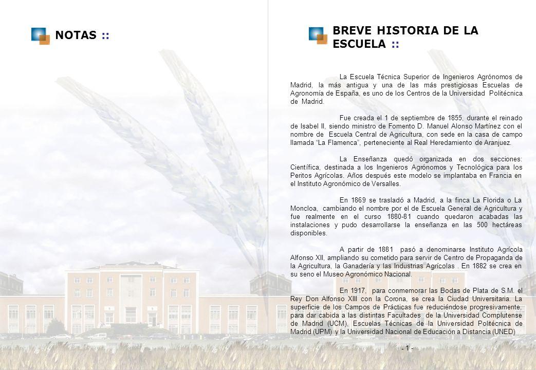 BREVE HISTORIA DE LA NOTAS :: ESCUELA ::