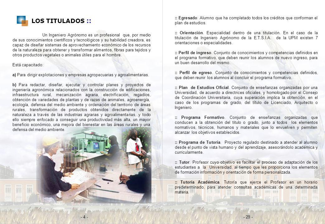 LOS TITULADOS :: :: Egresado: Alumno que ha completado todos los créditos que conforman el plan de estudios.