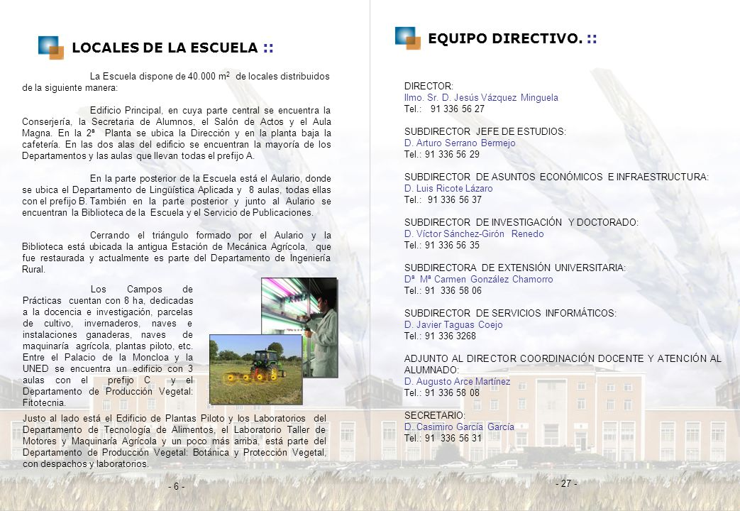 LOCALES DE LA ESCUELA ::
