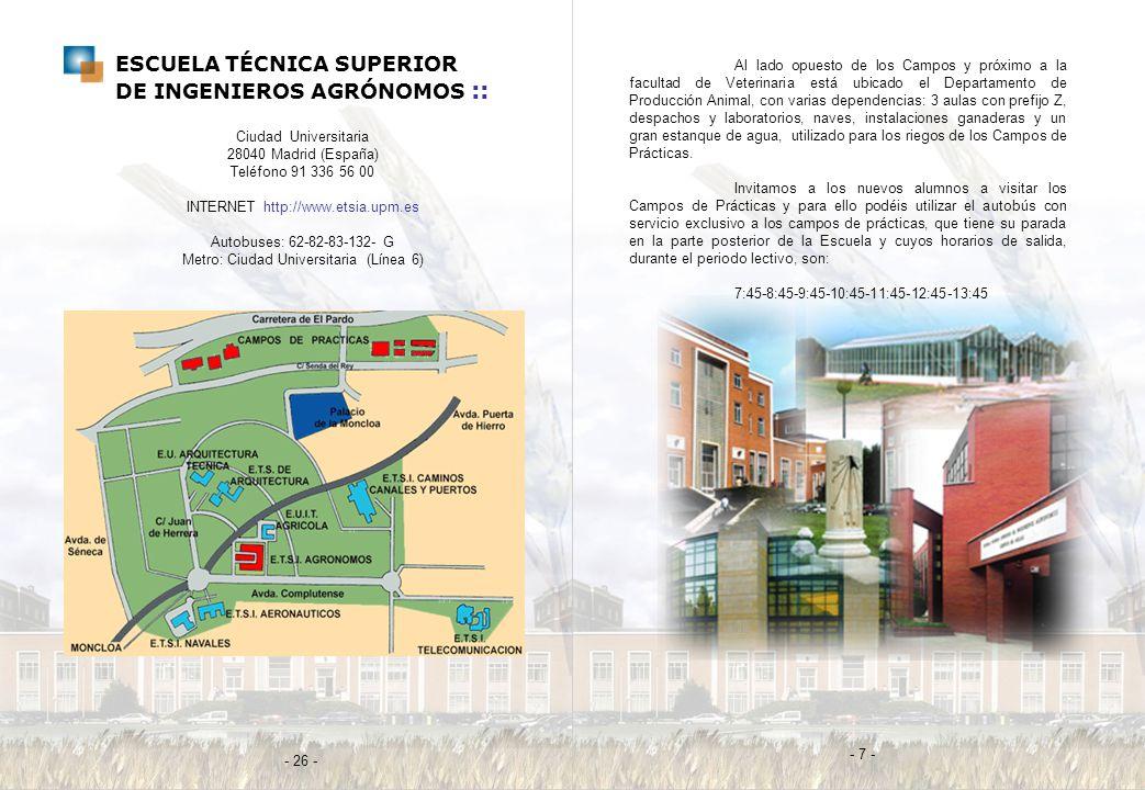 ESCUELA TÉCNICA SUPERIOR DE INGENIEROS AGRÓNOMOS ::