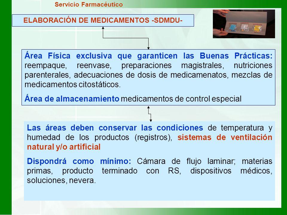 ELABORACIÓN DE MEDICAMENTOS -SDMDU-