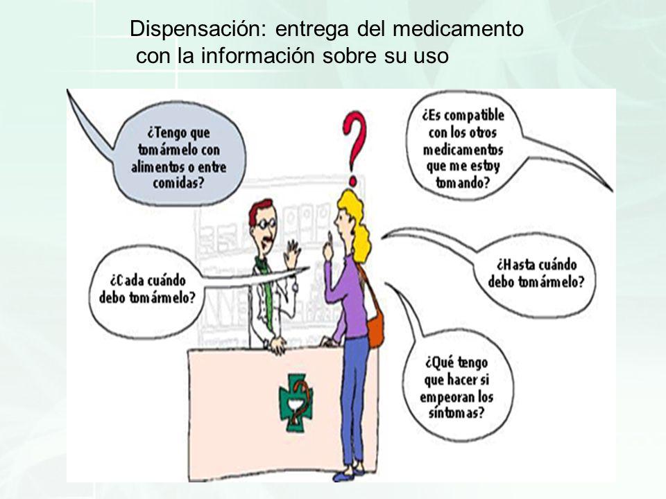 Dispensación: entrega del medicamento