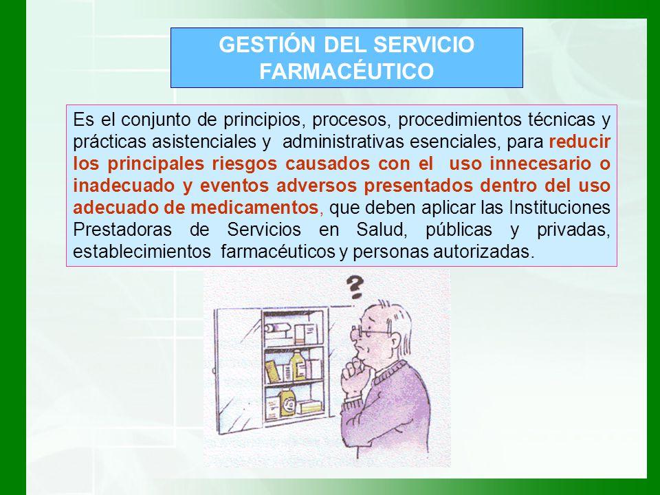 GESTIÓN DEL SERVICIO FARMACÉUTICO