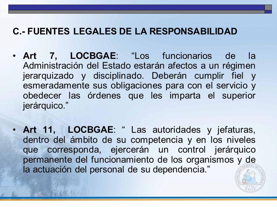 C.- FUENTES LEGALES DE LA RESPONSABILIDAD