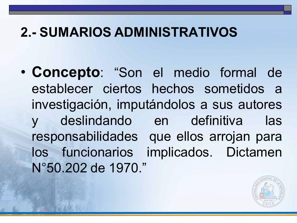 2.- SUMARIOS ADMINISTRATIVOS