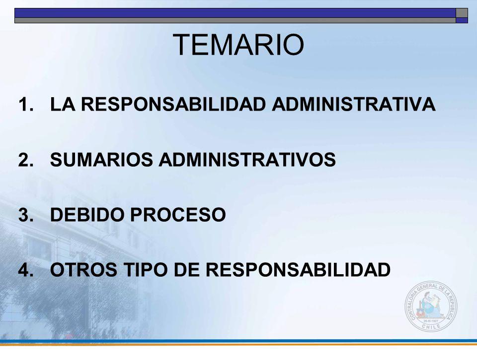 TEMARIO LA RESPONSABILIDAD ADMINISTRATIVA SUMARIOS ADMINISTRATIVOS
