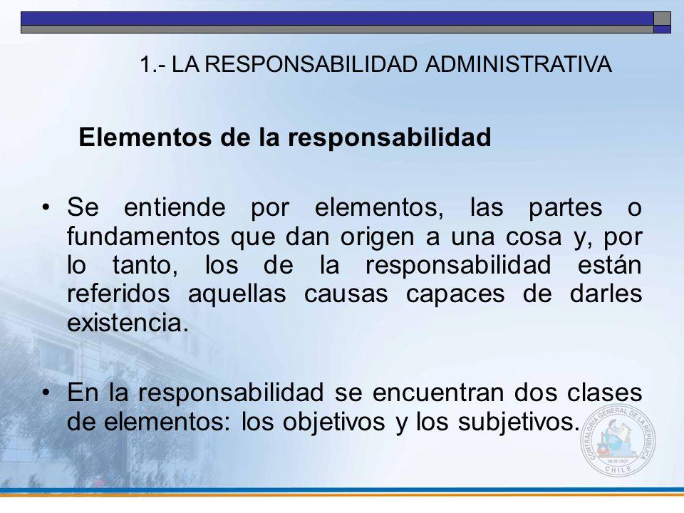 Elementos de la responsabilidad