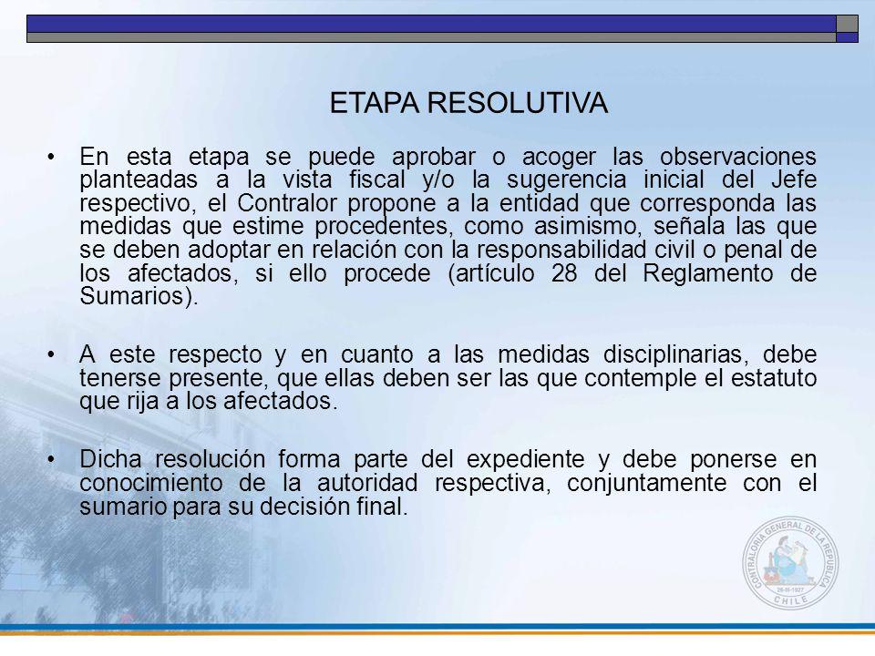 ETAPA RESOLUTIVA