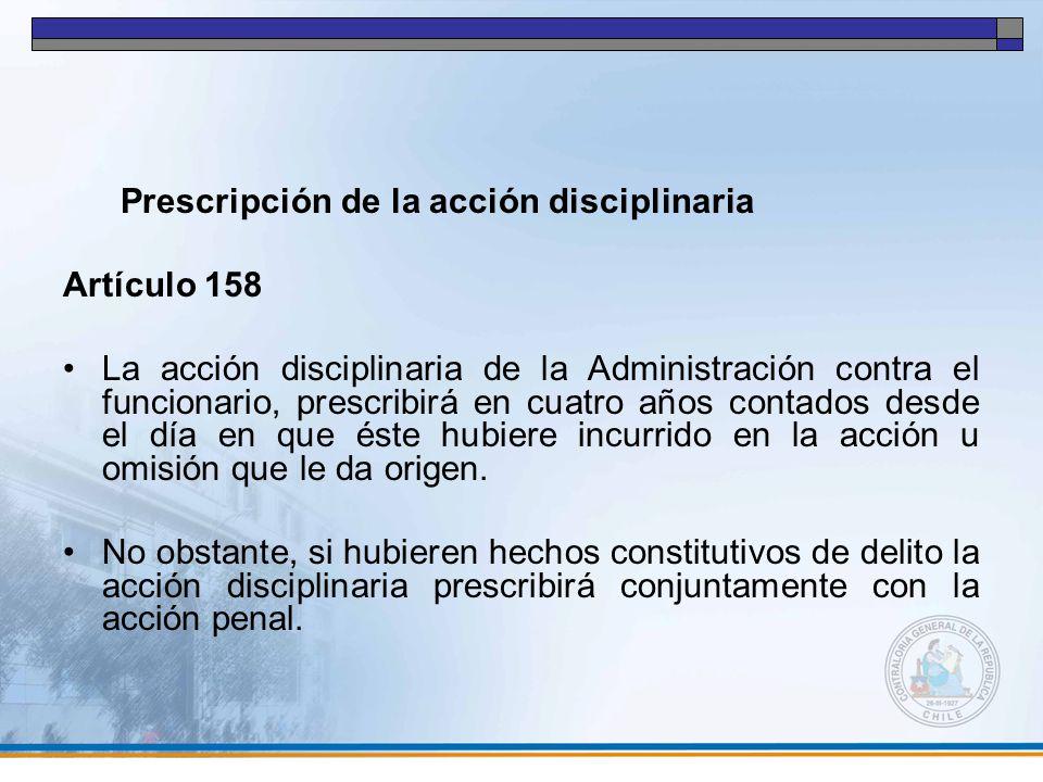 Prescripción de la acción disciplinaria