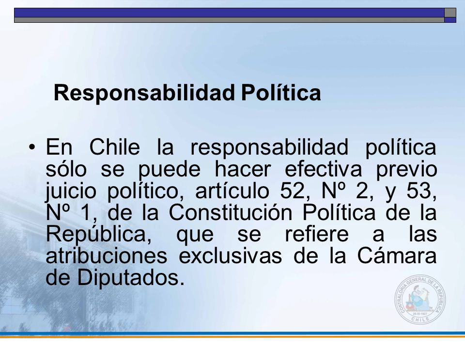 Responsabilidad Política