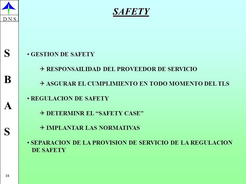 SAFETY GESTION DE SAFETY RESPONSAILIDAD DEL PROVEEDOR DE SERVICIO