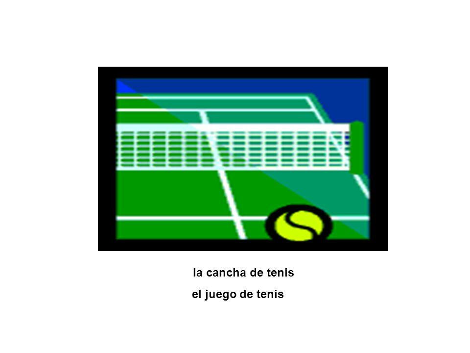 la cancha de tenis el juego de tenis