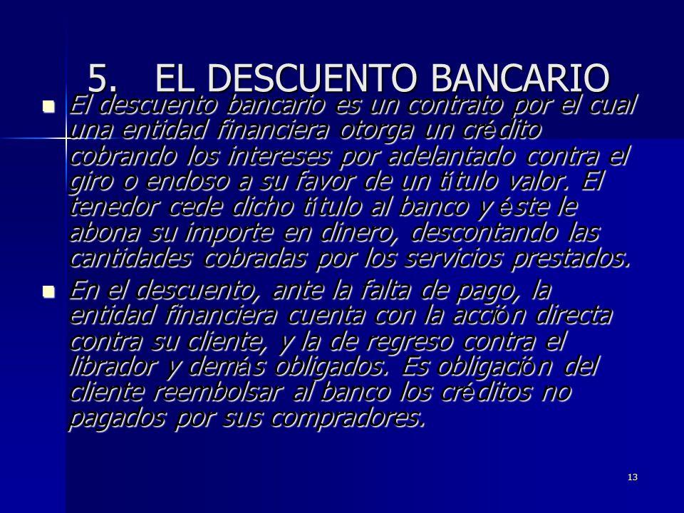 5. EL DESCUENTO BANCARIO