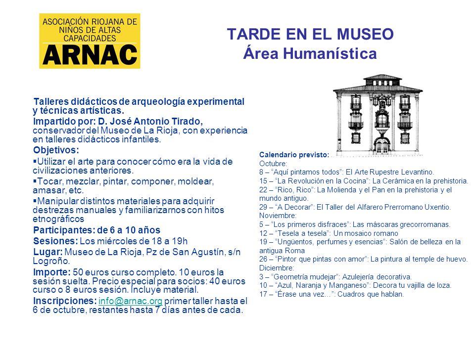 TARDE EN EL MUSEO Área Humanística