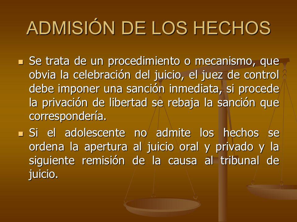 ADMISIÓN DE LOS HECHOS
