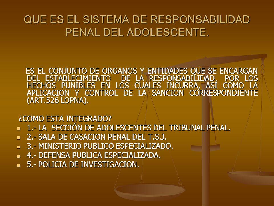 QUE ES EL SISTEMA DE RESPONSABILIDAD PENAL DEL ADOLESCENTE.
