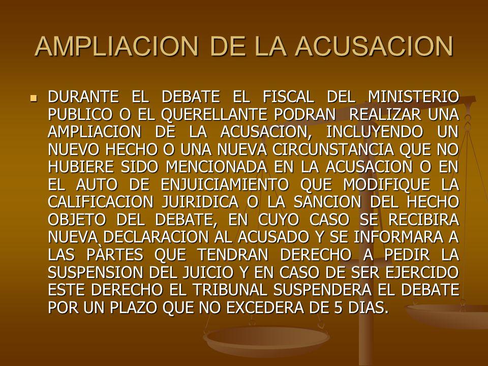 AMPLIACION DE LA ACUSACION