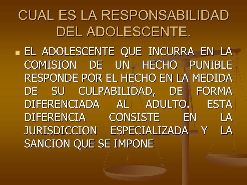 CUAL ES LA RESPONSABILIDAD DEL ADOLESCENTE.