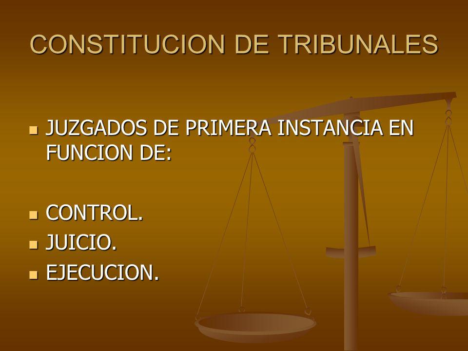 CONSTITUCION DE TRIBUNALES