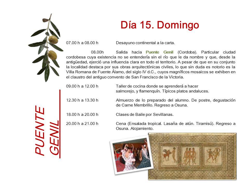 PUENTE GENIL Día 15. Domingo