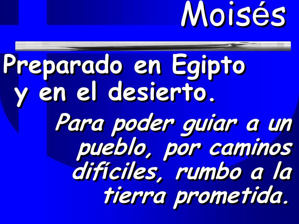 Moisés Preparado en Egipto y en el desierto.