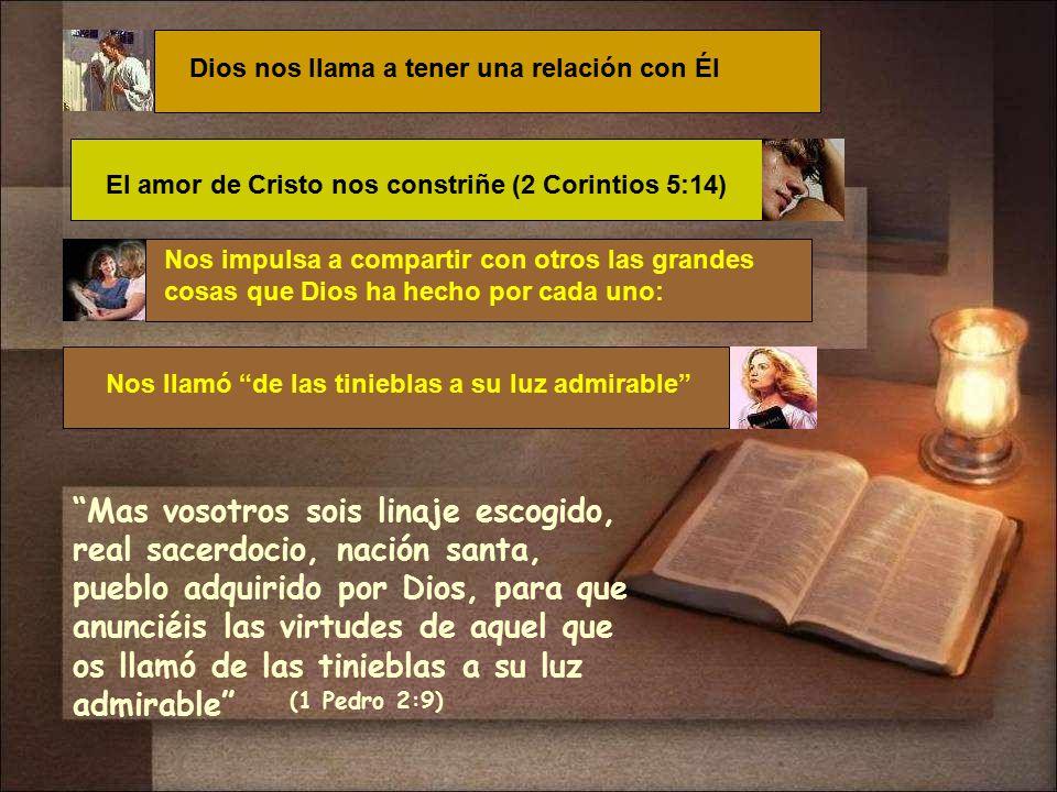 Dios nos llama a tener una relación con Él