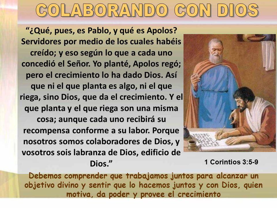 COLABORANDO CON DIOS