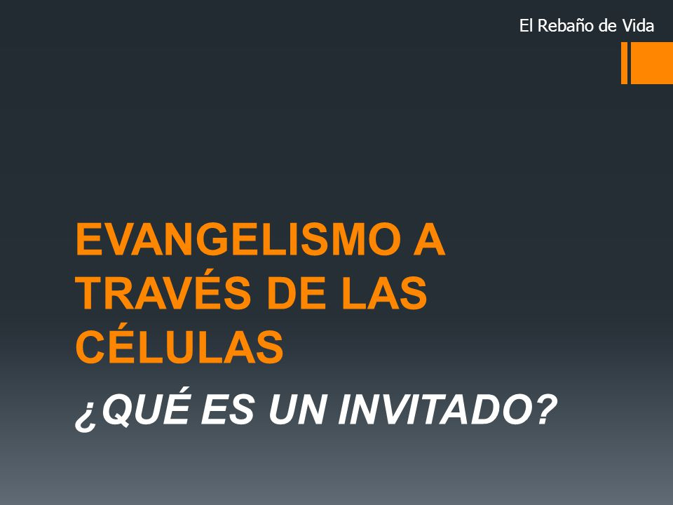 EVANGELISMO A TRAVÉS DE LAS CÉLULAS