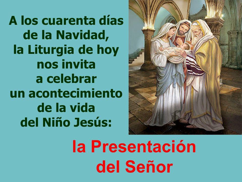 A los cuarenta días de la Navidad, la Liturgia de hoy nos invita