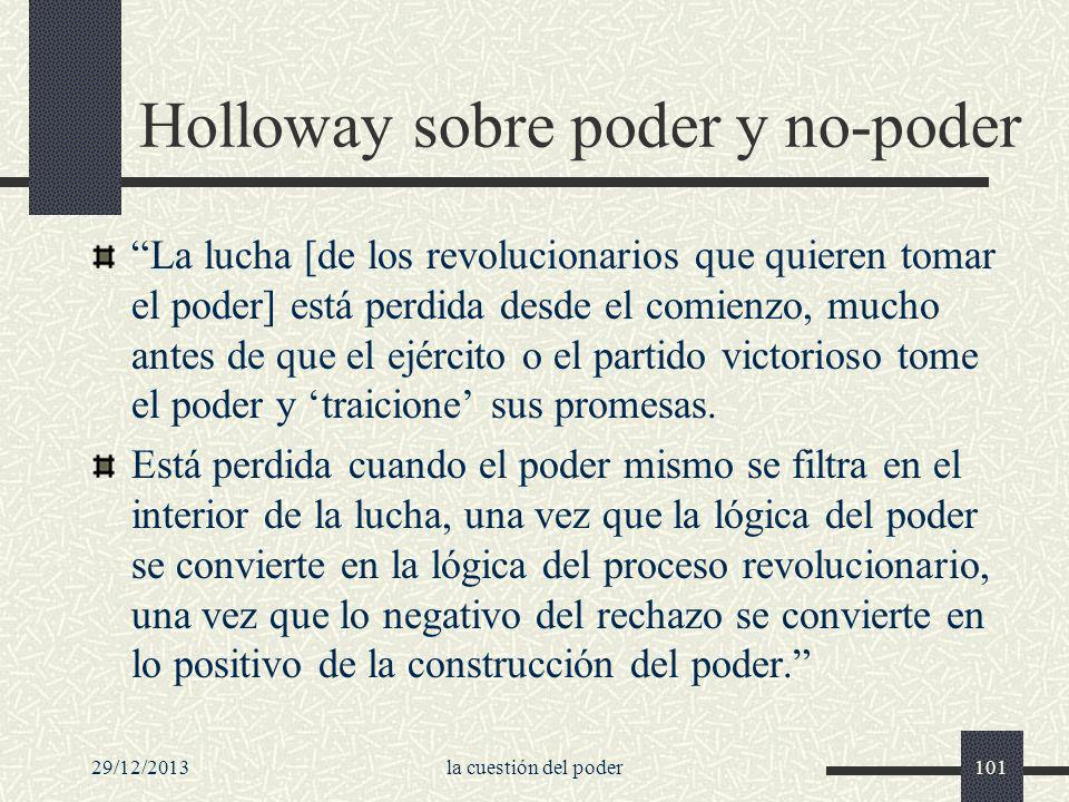 Holloway sobre poder y no-poder