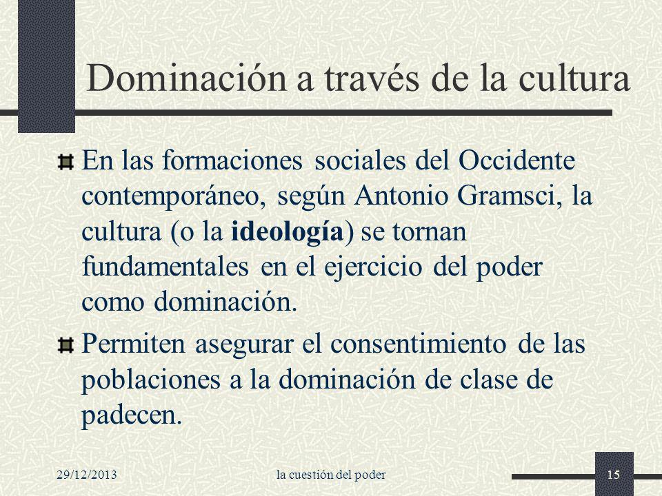 Dominación a través de la cultura